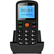 Digital Tec DT005 Big Button Easy to use Mobile Phone for the elderly Sim-Free, with FM radio and Torch function - SOS button and large easy to read display - Black