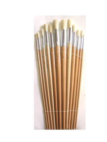 12er Set Rundpinsel / Künstlerpinsel aus reiner Chinaborsten