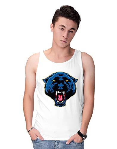 BLAK TEE Angry Panther Face Herren Tank Top