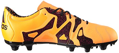 adidas X 15.2 Fg/Ag Leather, Scarpe da Calcio Uomo, 40.5 EU Arancione (Solar Gold/Core Black/Shock Pink)