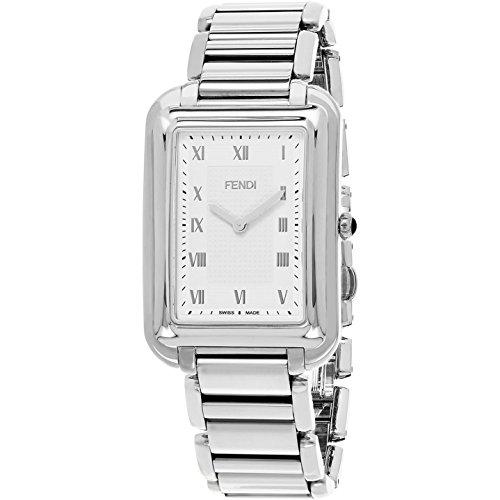 Fendi Men's Steel Bracelet & Case Anti Reflective Sapphire Swiss Quartz Silver-Tone Dial Watch F701016000