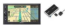 Sony XNV-KIT100 XAV-AX100 Premium 16,4 Zoll Touchscreen Navigation und Media Receiver mit Bluetooth (Apple CarPlay und Android Auto, TomTom Karten, Spotify, Google Maps und weitere)