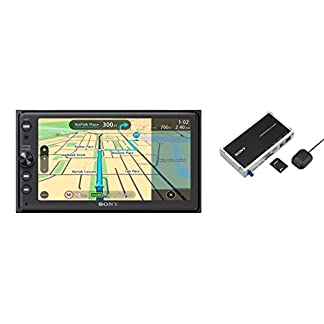 Sony-XNV-KIT100-XAV-AX100-Premium-164-Zoll-Touchscreen-Navigation-und-Media-Receiver-mit-Bluetooth-Apple-CarPlay-und-Android-Auto-TomTom-Karten-Spotify-Google-Maps-und-weitere