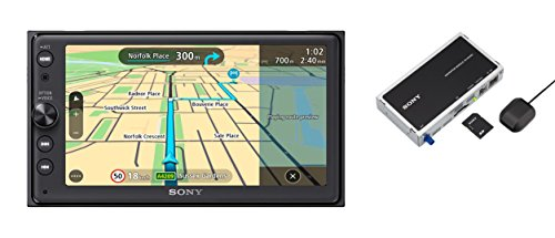 Sony XNV-KIT100 XAV-AX100 Premium 16,4 Zoll Touchscreen Navigation und Media Receiver mit Bluetooth (Apple CarPlay und Android Auto, TomTom Karten, Spotify, Google Maps und weitere) (Sony Google Dvd)