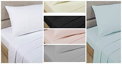 Bedding Heaven Top QualityPercale Sheet Set Consisting of Fitted and Flat Sheet and Pillowcases. Single, Double, King Size, White, Ivory, Pink, Duck Egg, Taupe, Grey, Black. (double, taupe)