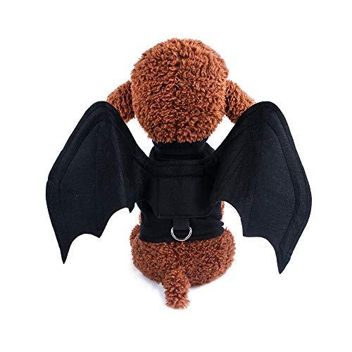 Li Hua Hunde-Kostüm für kleine Hunde und Katzen, mit Fledermaus-Motiv, für Halloween, Weihnachten, Geburtstage, Fotoshow und Spieldaten, Halsband