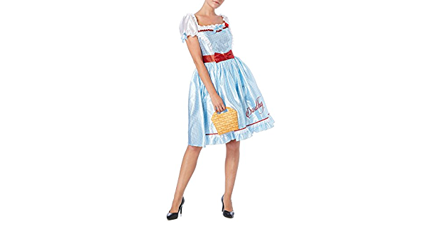 UK 12-14 New Medium Magicien d/'Oz Dorothy Fancy Dress Costume Outfit Cosplay