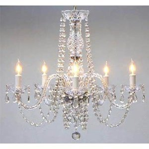 New! AUTHENTIC ALL CRYSTAL CHANDELIER CHANDELIERS LIGHTING Ceiling Light Lamp Hanging Fixture 230V H 63.00 cm X W 61.00 cm