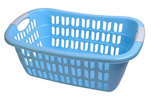 WÄSCHEKORB WÄSCHEKÖRBE KUNSTSTOFF WÄSCHE KORB Wäschekorb Plastik (Blau)