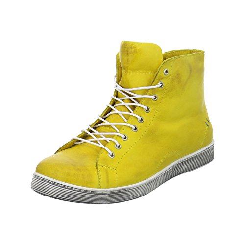 Andrea Conti Damen Stiefeletten/ Boots Gelb