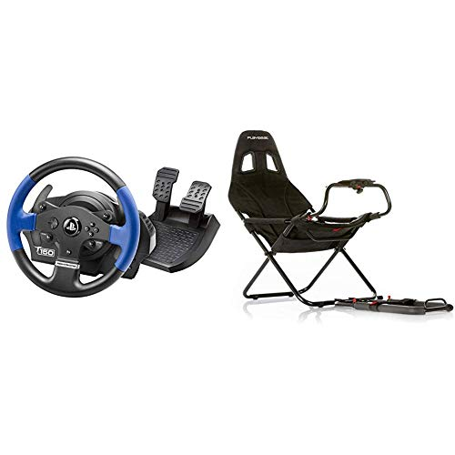 Thrustmaster T150 Force Feedback Volante - PS4/PS3/PC + Playseat RC.00002 Challenge Sedile da Auto per Gioco, Nero