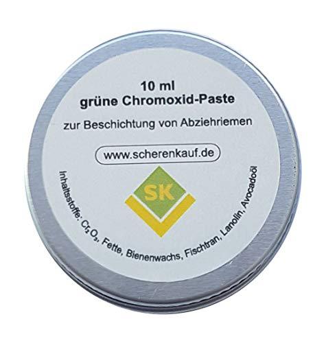 Grüne Chromoxid-Paste, 10ml - Polierpaste zur Behandlung von Lederabziehriemen