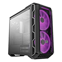 Cooler Master MCM-H500-IGNN-S00 MasterCase ATX Mid-Tower w/Tempered Glass Side Panel, Transparent/Mesh Front Option, Carrying Handle And 2x 200mm RGB Fans w/RGB Controller