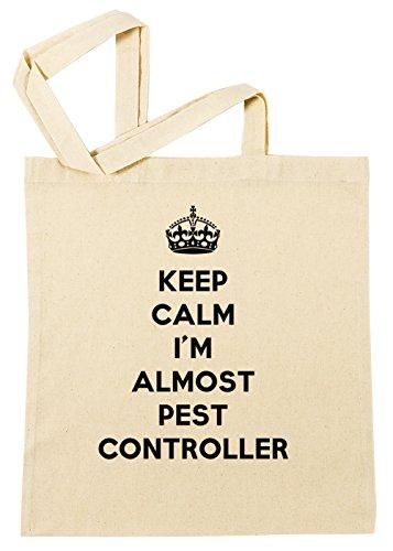 Erido Keep Calm I'm Almost Pest Controller Einkaufstasche Wiederverwendbar Strand Baumwoll Shopping Bag Beach Reusable (Pest Controller)
