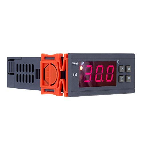 KKmoon 90 ~ 250V 10A Regolatore Controllore di Temperatura Termoregolatore Digitale Termocoppia -50 ~ 110 Gradi Centigradi con il Sensore