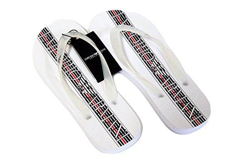 Emporio Armani hommes sandales de plage Flip Flop flip pantoufles Flops - Navy Navy