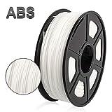 Filamento de impresora 3D ABS, filamento de ABS de 1.75 mm, 1 kg (2.2 lb), Blanco