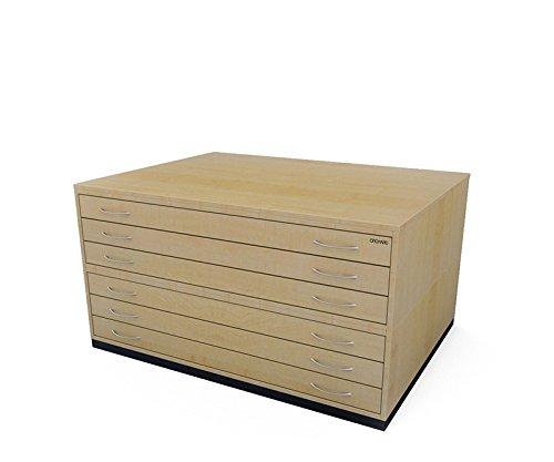 Traditionelle A06Schublade Plan Brust Ahorn Papier Schrank mit sechs Tiefe Schubladen halten Papier der A0 - Traditionellen 6-schublade Kommode