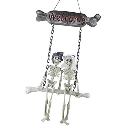 rautpaar Deko Figuren Willkommenschild Hängende Dekoration für Halloween ()