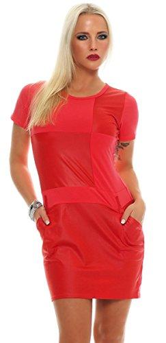 Multicolor Corail Robe Grande Femme Sans Manche Fashion4young Gelb aqTX88