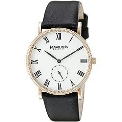 Johan Eric Men's JE-H1000-09-001 Holstebro Analog Display Quartz Black Watch