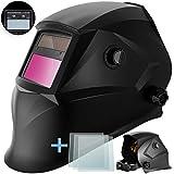 Masko® Automatik Schweißhelm + 3x Ersatzgläser   großes Sichtfeld   für alle gängigen Schweißtechniken -...