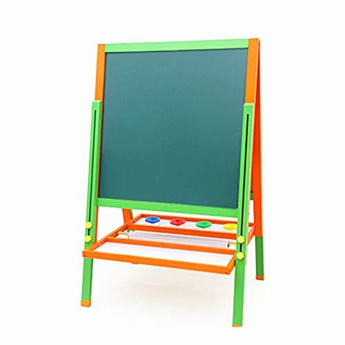 DMMW Zeichenbrett für Kinder Stehen Kunst Staffelei doppelseitige Whiteboard Tafel mit magnetischen Buchstaben und Zahlen für Kleinkinder (Holz, Fit für 2-14 Jahre alt) Spaß pädagogisches Lernen