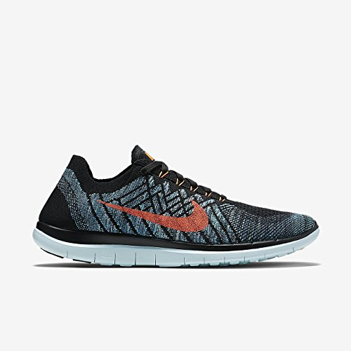 Nike Free 4.0 Flyknit, Chaussures de running homme Wolf Grey/Black-Volt-Electric Green