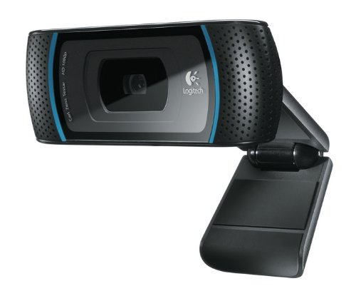 Logitech B910 USB HD Webcam OEM - 720p, schwarz