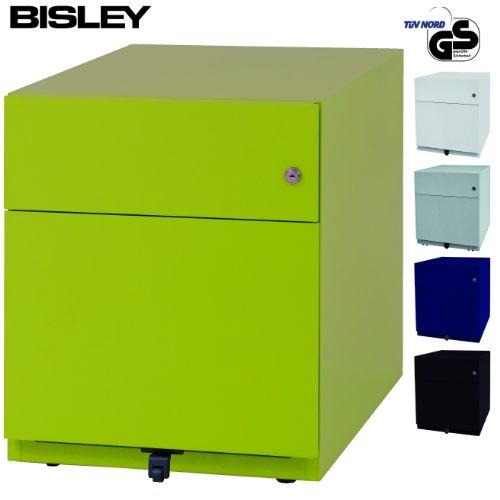 Bisley Rollcontainer mit 2 Schüben in grün | Bürocontainer aus Metall abschließbar |...