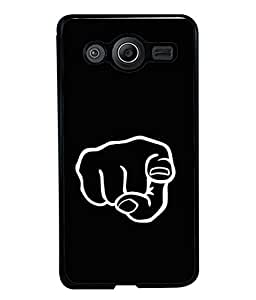 PrintVisa Hand Pointing High Gloss Designer Back Case Cover for Samsung Galaxy Core 2 G355H :: Samsung Galaxy Core Ii :: Samsung Galaxy Core 2 Dual