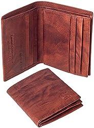 Linda Chiarelli portafoglio uomo vera pelle made in Italy blocco RFID. Piccolo portafogli con portamonete, por