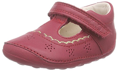 Clarks Little Ida, Mädchen Halbschuhe Ballerinas, Rot (Berry Leather), 18 EU