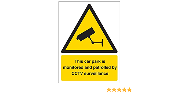 1mm Rigid Plastic 300mm x 400mm Cctv In Operation Sign Portrait VSafety Security Notice