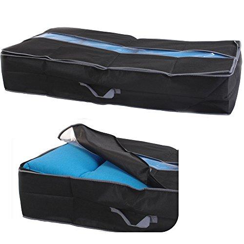 JEMIDI Aufbewahrungstaschen für Bettdecke Unterbettkommode Unterbett Tasche Aufbewahrung Kasten Bettkasten ca. 97cm x 50xm x 19cm (1 Stück)