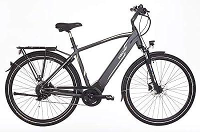 "Fischer Herren - E-Bike Trekking VIATOR 5.0i (2019), grau matt, 28"", RH 50 cm, Brose Mittelmotor 50 Nm, 36V Akku im Rahmen, 418 Wh"
