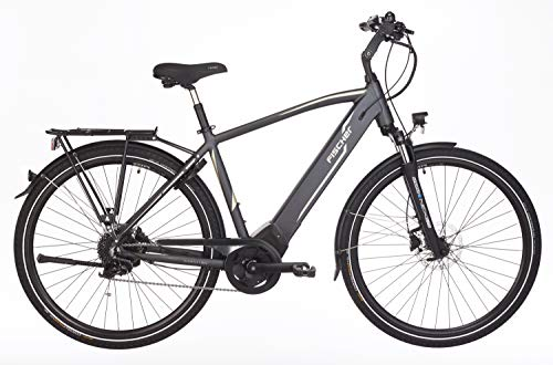 "FISCHER Herren - E-Bike Trekking VIATOR 5.0i (2019), grau matt, 28"", RH 50 cm, Brose Mittelmotor 50 Nm, 36V Akku"