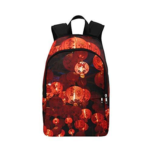 Bunte chinesische rote Laterne-beiläufige Daypack-Reisetasche College School-Rucksack für Männer und Frauen - Nylon-laternen Japanisch