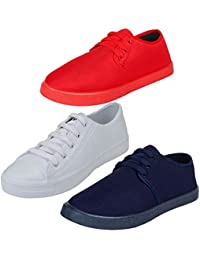 Earton Men's Sports Running Shoes - Combo Pack of 3
