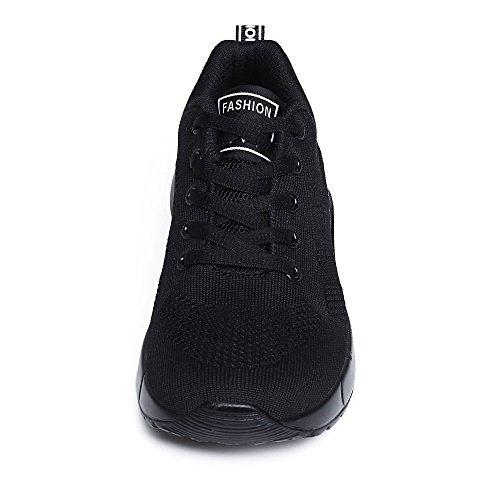 New Damen Air Sport Running Schuhe, Trainer Laufen Joggen Turnschuhe für Mädchen All Black