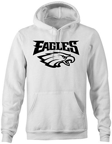 Prilano Herren Hoodie - EAGLES - L - Weiß Eagle Herren Hoodie
