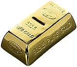 Tirelire en forme de lingot d'or - Cagnotte avec serrure et clé Cadeau insolite...