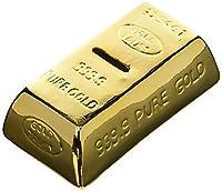 Hucha Cerámica con forma de Lingote de Oro, dispone de una cerradura para poder extraer los ahorros. Las medidas aproximadas son 16,5 x 8,6 x 5 cm. Además de un buen precio, es súper original ya que cuenta con un diseño genuino, emulan...