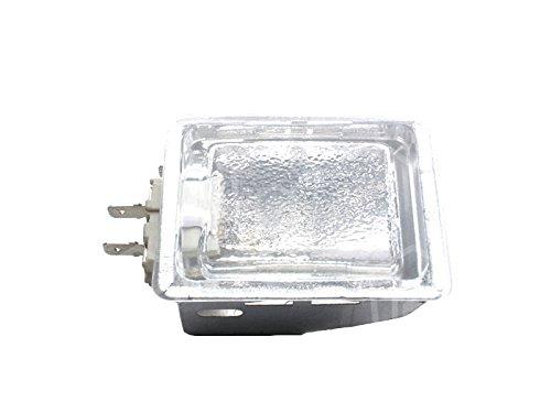 Gam Halogenlampenfassung für Pizzaofen King, Serie M, Serie MD, Serie SB Anschluss Flachstecker 6,3mm komplett Breite 55mm G9 25W -