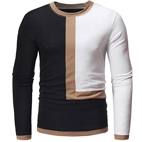 5f5ac31140eb TWBB Herren Sweatshirt Hemd Geschäft Nähen Slim-Fit Freizeit Shirt Langarm  Oberteile Männer Tops T-Shirt