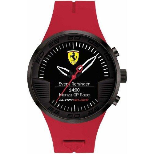Scuderia Ferrari Mens rote Gummi schwarz Alarm Uhr 0830374