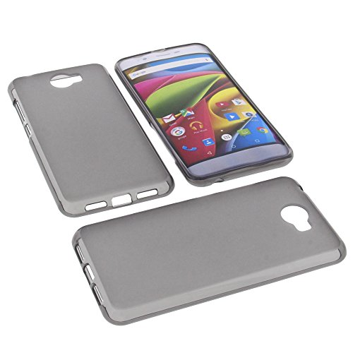 foto-kontor Tasche für Archos 50 Cobalt Gummi TPU Schutz Hülle Handytasche grau