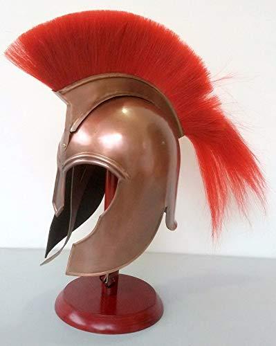 india.nautical.handicraft Troy Griechische Achilles Erwachsenengröße Mittelalter Rüstungshelm mit schwarzem Pflaume Geschenk Artikel