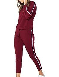 Damen Trainingsanzug Sweatshirt Jacke Mantel Sporthose Jogging Sportanzug 34-42