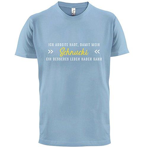 Ich arbeite hart, damit mein Schnucki ein besseres Leben haben kann - Herren T-Shirt - 12 Farben Himmelblau